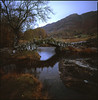 evening (steve-jack) Tags: hasselblad 501cm 50mm fuji velvia 50 120 film medium format cumbria bridge slate lake district