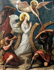 Miracle of Saint Catherine (Lawrence OP) Tags: catherineofalexandria saints virgin martyr patroness philosophers preachers orderofpreachers lille wheel sword angel martyrdom