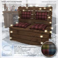 Sway's [Hot Cocoa] Reward | The Arcade (Sway Dench / Sway's) Tags: arcade gacha bench hot cocoa chocolate winter cold cocoastand virtual secondlife sl sways