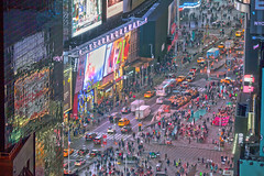 Color Confetti (michaelelliottnyc) Tags: nyc newyorkcity newyork manhattan city urban street broadway timessquare lights colors night traffic taxi people