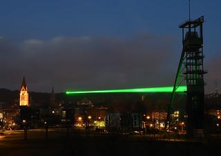 Laser über Castrop-Rauxel