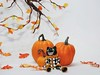 Cat Dollhouse Scale Shelf Sitter Doll (J. Nicholai) Tags: cat polymerclay sculpey sculpture scale dollhouse miniature ooak oneofakind orange original october doll décor kato handmade handcrafted halloween smiling pumpkins