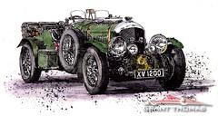 1928 Blower Bentley (ferrariartist) Tags: vintage automobile automotive car british bentley ferrariartist inkdrawing drawing watercolor watercolour artwork