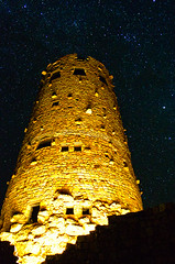 DSC_0025 watchtower at night 850 (guine) Tags: grandcanyon grandcanyonnationalpark watchtower tower night nightsky stars