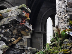 The Broken Walls of a Broken Cathedral (Steve Taylor (Photography)) Tags: christchurch cathedral wall window earthquake 22february2011 broken damage quake smashed brick block rock stone newzealand nz southisland canterbury cbd city