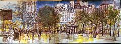 Place E. Michelet-PARIS-Beaubourg (C.PARR) Tags: aquarelle art centre pompodou paris sketch
