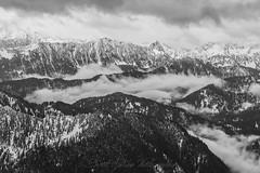 SW of Cascade Mountain (Scott_Nelson) Tags: baring washington unitedstates us cascades cascadesfromtheair northcascadesfromtheair monroe airphotography blackandwhite mountians