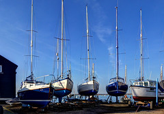Mersea Island - Out of the water for the winter (Baz Richardson (catching up again!)) Tags: essex merseaisland westmersea boatyards yachts