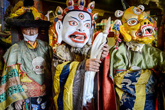Buddhist monks during the Cham, a sacred dance performed on certain ritual occasions. (Leonid Plotkin) Tags: asia buddhism buddhist ceremony cham dance dancing festival hemis india ladakh religion religious rite ritual tradition traditional tsam tsechu