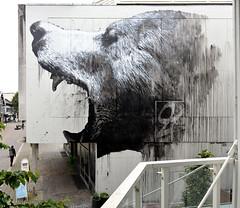 LANGSNUTE. wall mural, 2016, Sandnes, Norway