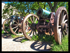 two cannons (harrypwt) Tags: spring helsinki coastal suomenlinna 1454 e520 harrypwt