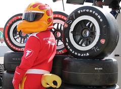 Firehawk - 2015 GoPro Grand Prix of Sonoma (sarahstierch) Tags: california sonoma racing tires mascot firehawk firestone indycar sonomaraceway racesonoma goprograndprix 2015goprograndprixofsonoma