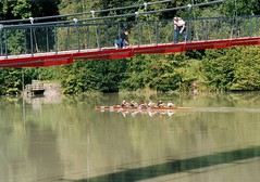 Inn-Brcke und Ruderer (thobern1) Tags: river bayern bavaria inn brcke radtour passau ruderer flus