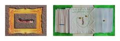 Found Thread in my Golden Frame / Game board 12. September: What the three ideas have in common: at the end there will be one piece - Schnittmenge der 3 Ideen. Tagebuch Zwischenbilanz Bestandsaufnahme Physalis Ernte Garten