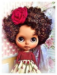 New baby girl, custom Gabriel Silva. #ブライス  #blythe #blackpower