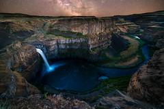 Palouse Milky Way (Nikoner7000) Tags: waterfall washington palouse