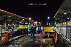 22025 and 4007 at Heuston, 7/11/15 (hurricanemk1c) Tags: dublin irish train rail railway trains railways caf irishrail rok intercity rotem heuston 2015 4007 icr mark4 iarnród 22000 22025 éireann iarnródéireann 4pce 1930heustoncork