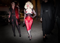 Amanda Lepore arrives at The Blonds NYFW 9-2015 (The Urban Vogue) Tags: street nyc red urban newyork black fashion night mercedes blog downtown chelsea manhattan candid flash streetphotography trends vogue mercedesbenz corset fishnets redlips blade chic pasties haute fashionweek amandalepore streetfashion streetstyle milkgallery branstrom theblonds theurbanvogue bladefoto bladebranstrom