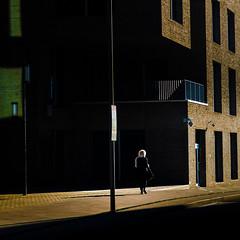 (Svein Skjåk Nordrum) Tags: street light shadow building oslo contrast dark streetphotography sidewalk barcode