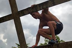 A-frame Cargo Climb. Battlefrog Miami 2015 (LuckyEyes) Tags: usa sports race lens athletics florida miami marathon extreme run ironman tokina konica legacy triathlon manualfocus mudrace mudrun obstacles 2015 35105mm armount battlefrog f13543