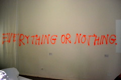 Everything or nothing (Vittoria Lazzeri) Tags: venice red art modern writing graffiti arte contemporary or everything nothing biennale venezia moderna scritta contemporanea
