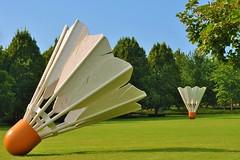 Sculptures (KansasCity, Missouri) (stevelamb007) Tags: urban art museum nikon kansascity missouri badminton nelsonatkins shuttlecock d90 nikkor18200mm stevelamb
