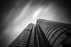 Vertical ([~Bryan~]) Tags: vertical daytimelongexposure monochrome bw blackandwhite longexposure executivecentre time hongkong building architecture exchangesquare fineart