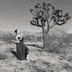 Jaedon + Joshua Tree, Near Los Angeles, California, November 6, 2015 (Halim Ina) Tags: california ballet woman lake girl monochrome zeiss photography dance los bed model photographer power angeles sony documentary dry el mirage bailarina rx100m3