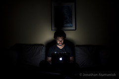 Light in the Dark (jatamaniuk) Tags: nikon d750 tamron2470f28vc colour shadows apple selfportrait portrait