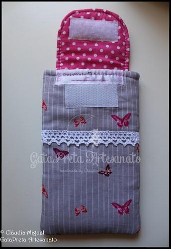 """Bolsa de telemóvel """"Cute Pinky Butterflies"""""""
