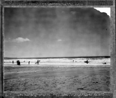 (Matt Chalky Smith) Tags: roidweek polaroid speedgraphic type54 expiredfilm porthtowan beach surf surfers