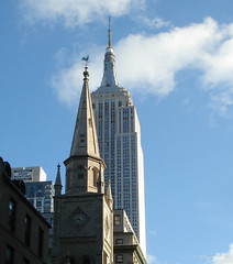 New York spires (kavpro) Tags: new york city manhattan empire state tower spier steeple church 5 ave 5th