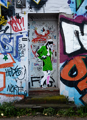 HH-Wheatpaste 3111 (cmdpirx) Tags: hamburg germany reclaim your city urban street art streetart artist kuenstler graffiti aerosol spray can paint piece painting drawing colour color farbe spraydose dose marker stift kreide chalk stencil schablone wall wand nikon d7100 paper pappe paste up pastup pastie wheatepaste wheatpaste pasted glue kleister kleber cement cutout