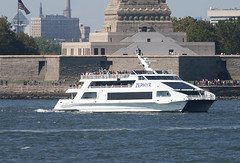 ZEPHYR in New York, USA. August, 2016 (Tom Turner - SeaTeamImages / AirTeamImages) Tags: zephyr catamaran cruise cruiseboat harborcruise vessel excursionboat excursionvessel spot spotting tomturner bay libertyisland circleline newyork nyc bigapple unitedstates usa marine maritime pony port harbor harbour transport transportation