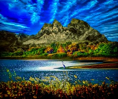 Autumn Lake (Rusty Russ) Tags: autumn fall mountain lake trees bird water sky landscape colorful day streetart digital graffiti europe mer lago window flickr country landschaft mare analog bright happy la paysage colour eos scenic america cielo market hill world sunset beach flower red nature blue night white tree green art light sun cloud park summer city yellow people pink house old new photoshop google bing yahoo stumbleupon getty national geographic