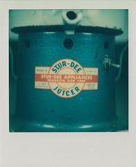 Stur-Dee Juicer (DavidVonk) Tags: vintage instant film analog polaroid impossibleproject sx70 sonar juicer appliance logo label
