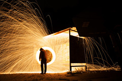 IMG_7726 (kurmysh0v) Tags: steel wool sparks glowing fire spinning hot background night circle light abstract orange fireworks yellow bright motion danger concept burning