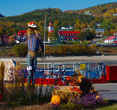 Hotel Tadoussac from the wharf (cbaarch) Tags: quebec saguenay tadoussac hoteltadoussac waterfront halloween autumncolours redroof sandybeach