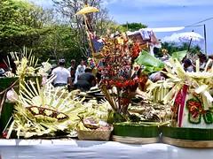 Offerings for the death people . (Franc Le Blanc .) Tags: panasonic lumix indonesia bali kuta pantai beach hindu cremationceremony palmleafart