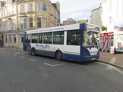 FJ55BXK, Teignmouth, 25/11/16 (aecregent) Tags: teignmouth 251116 countrybus dennisdart caetano nimbus slf mpd fj55bxk