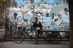 Thinking of a selfie my friend ? (N A Y E E M) Tags: rickshawvan mural graffiti portrait candid afternoon street norahmedroad chittagong bangladesh carwindow