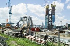 Frankfurt (histor.) Baustelle Ostend (JohannFFM) Tags: frankfurt ostend baustellen ezb honsellbrücke osthafenbrücke