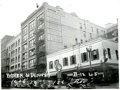 Warshal's Sporting Goods, Seattle, 1937 (Rob Ketcherside) Tags: streetclock seattle 1937 greatdepression sportinggoods pawnshop warshal warshals