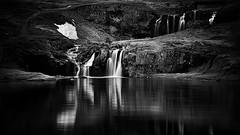 Endless (Lindi m) Tags: kirkjufell iceland waterfall blackwhite reflections cascades landscape mountain outdoor
