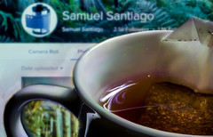 My Daily Routine: Tea and Flickr. (Explored) (Samuel Santiago) Tags: macromondays mydailyroutine canon7d canonef100mmmacrof28 lightroomcc tea flickr samuelsantiago sammysantiago cup 7d coffee availablelight food