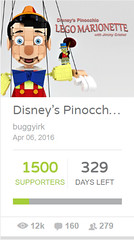 Update - Pinoke now at 1,500 supporters! (buggyirk) Tags: disney cute adorable cuteness disneys pinocchio jiminy cricket pinoke lego ideas brickbuilt brick figure marionette minifigure minifig afol moc walt classic buggyirk jiminyc