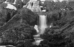 Wild Wild West(fjords) (lunaryuna) Tags: iceland westfjords westiceland landscape mountain rockface waterfalls dynjandiwaterfall geologicalformations wilderness nature beauty lunaryuna blackwhite bw monochrome