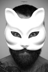 Novembre (Kumo Moku) Tags: blackandwhite autoritratto selfportrait maschera mask canoneos650d bear scruff hairy