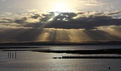 First Light On The Isle of Wight 281116 (1) (Richard Collier - Wildlife and Travel Photography) Tags: isleofwight sunrays shaftoflight coastal coastallandscape southcoast landscape seascape
