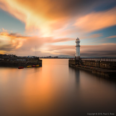 Newhaven Liquid Gold Sunset (roseysnapper) Tags: firth forth newhaven harbour nikkor 2470 f28 nikon d810 circular polarizer liquid gold autumn edinburgh fall scotland beauty calm cloud harbor lighthouse nature peaceful reflection river serene sky sunset tranquil water